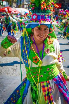 Typical Bolivian dancing in La Paz