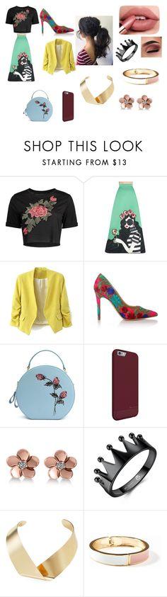 """Floral style"" by plozoya on Polyvore featuring moda, Alice + Olivia, Vivienne Westwood, Allurez, Kenneth Jay Lane y Old Navy"