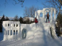 snow-fort- the perfect background for an Archery Tag battle using SAFE archery arrows!