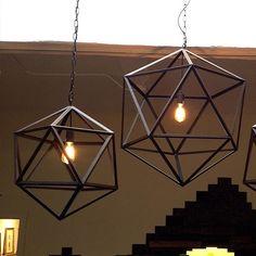 via DESIGN drinkup | Geometric Metal Ceiling Lamp :: A Merch #designdrinkup