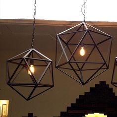 via DESIGN drinkup | Geometric Metal Ceiling Lamp :: A Merch #designdrinkup