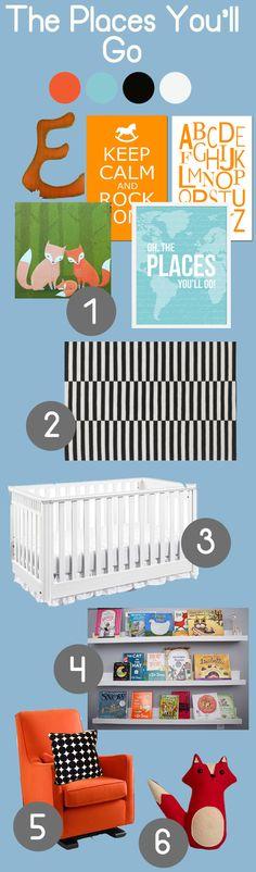 Two nursery decor ideas for a boy and a girl.