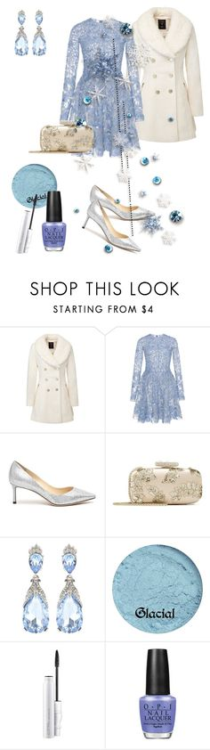 """""""Frozen"""" by klm62 ❤ liked on Polyvore featuring Zuhair Murad, Jimmy Choo, Oscar de la Renta, MAC Cosmetics, OPI and Baby"""