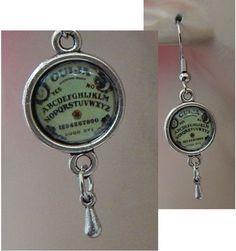 Silver Ouija Board Charm Drop/Dangle Earrings Handmade Jewelry Hook Accessories http://www.ebay.com/itm/Silver-Ouija-Board-Charm-Drop-Dangle-Earrings-Handmade-Jewelry-Hook-Accessories-/152330948646?ssPageName=STRK:MESE:IT