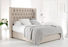Knightsbridge Upholstered Divan Base and Headboard - Bed Base - Divan Beds - Beds