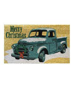 Look what I found on #zulily! 'Merry Christmas' Truck Doormat #zulilyfinds