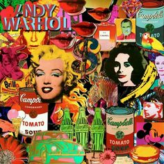 Andy Warhol Pop Art Collage.