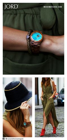 A wardrobe that includes vivid pops of color against neutral backgrounds can set your style apart this Fall. JORD& Cora, with its richly grained Zebrawood and saturated turquoise dial, is the perfect timepiece for your autumn additions. Fashion Beauty, Womens Fashion, Fashion Trends, Style Fashion, Your Style, Style Me, Mode Blog, Vogue, Up Girl