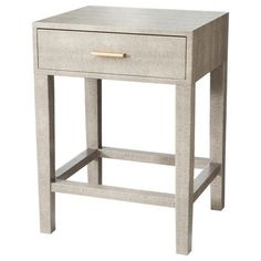 Threshold™ Gray Faux Snake Skin Accent Table with Drawer