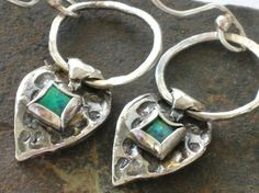 Silver and Opal earrings handmade sterling silver  and by riorita, $69.00