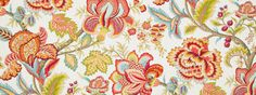 Jacobean Coral Upholstery Fabric Designer Fabric by RoomKandi