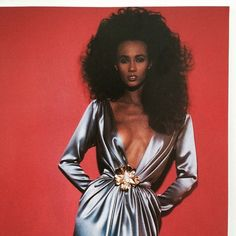 Iman in Yves Saint Laurent couture. In 1987 shot by Guy Bourdin for the very rarely seen The Best magazine.