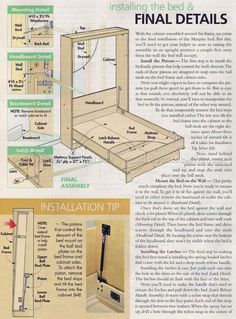 #2932 Murphy Bed Plans - Furniture Plans