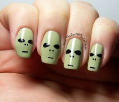35 Ideas para pintar tus uñas de Halloween   Pintar Uñas