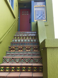 Mexican Tile for Stair Risers only at Mexican Tile Designs