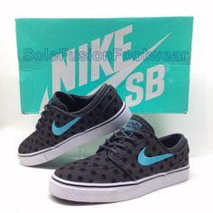 0075ca1ac Nike Boys ZOOM Janoski Trainers Black Blue sz 4 Junior Skate Sneaker US 4.5  36.5