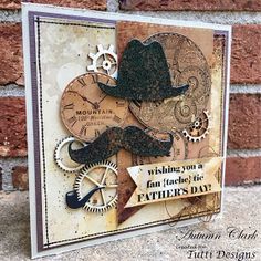 """Hello Tutti Designs fans! Autumn with you today sharing a fun """"pun inspired"""" Father's Day card with you, along with a free printable ..."""