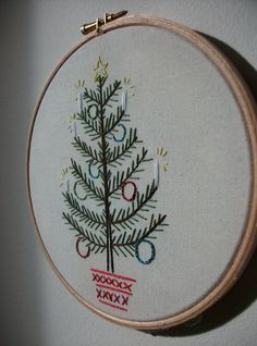 Christmas Tree Embroidery.