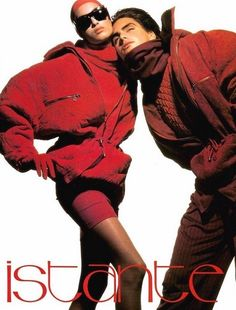 ISTANTE by GIANNI VERSACE Fall Winter 1990 featuring YASMEEN GHAURI & MARCUS SCHENKENBERG photographed by TYEN