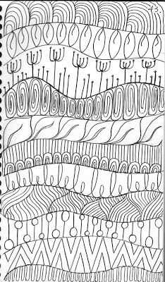 Here are a few designs from     my Quilting Sketch Book :             It is FUN for me to draw wavy horizontal     lines in the sketch...