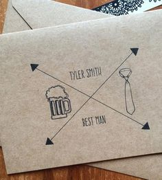 Celebrate brotherhood, friendship and all those kinda-mushy wedding day feelings with this pack of five custom groomsmen cards. Each one is customized with the name of the lucky gent in your wedding party — groomsmen and best man alike.