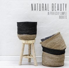 natural baskets from bloomingville