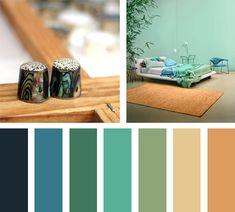 Verdes y ocres componen esta linda paleta de colores.  Espacio Via: Bloglovin