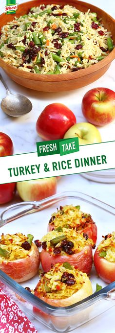 The best recipes are easy to follow, family & budget friendly, and delicious. Make Knorr's Harvest Turkey & Rice Baked Apples Dinner as a new favorite supper food. Cooking time takes less than 30 minutes from prep to plate! ⏰👌 Skinny Meals, Skinny Recipes, Good Food, Yummy Food, Family Budget, Leftovers Recipes, 30 Minute Meals, Baked Apples, Rice Dishes