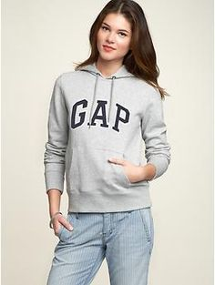 Gap: Satin arch logo hoodie 49.95 might be a little boxy around ribs.