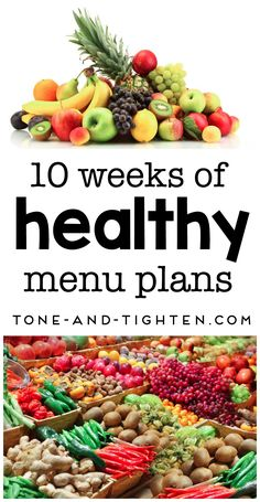 Healthy eating is vital to any successful fitness plan - lucky you we've taken care of all the thinking with these 10 weeks of healthy menu planning!