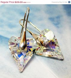 SALE AB Swarovski Crystal Earrings  Swarovski by MyGemstoneDesigns