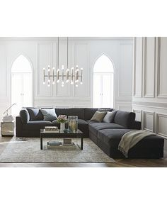 Aryanna Fabric Modular Collection, Only at Macy's - Sectional Sofas - Furniture - Macy's Sofa Furniture, Furniture Plans, Rustic Furniture, Living Room Furniture, Living Room Decor, Furniture Design, Modular Furniture, Furniture Websites, White Furniture