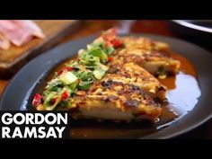 Red Mullet with Sweet Chilli Sauce - Gordon Ramsay Heat and sweetness from sweet chilli sauce and salty crunch from the peanuts - an adventurous fish dish. Gordon Ramsay Pasta Recipes, Gordon Ramsay Dishes, Chef Gordon Ramsay, Fish Recipes, Seafood Recipes, Beef Recipes, Cooking Recipes, Healthy Recipes, Restaurant Recipes