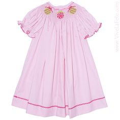 Ornament Smocked Girls Bishop Dress! #ChristmasGiftIdeas #Christmas