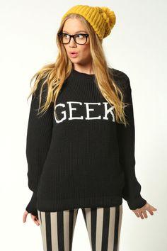 Lois Geek Print Knit Sweater