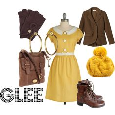 quinn fabray > sunday look > tea dress > brown boots Glee Fashion, Fashion Night, Star Fashion, Fashion Ideas, Quinn Fabray, Librarian Chic, Brown Blazer, Cold Weather Outfits, Weekend Outfit