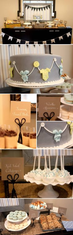 Baby Shower with Calligraphy and Chalkboard Details