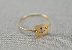 Anchor Stamped Square Signet Ring | 25 Nautical Picks