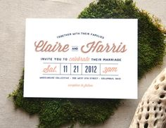 like the way this looks for save the date post card