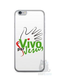 Capa Iphone 6/S Vivo Por Jesus - SmartCases - Acessórios para celulares e tablets :)