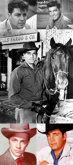 Dale Robertson (July 14, 1923 - Feb. 26, 2013) was the star of TV and movie westerns during the genre's heyday. He played the roving investigator Jim Hardie in the NBC/ABC series, Tales of Wells Fargo (1957-62), the owner of an incomplete railroad line in ABC's The Iron Horse (1966-68), and co-hosted Death Valley Days (1968-70). In 1981 he was in the original starring cast of ABC's popular Dynasty, playing Walter Lankershim, a character who disappeared after the first season.