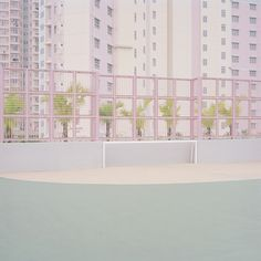 """Courts"", a minimalist photo series by Ward Roberts of pastel-colored sports fields in seemingly deserted, urban environments. Ward Roberts is a New York Eleven Paris, Pink Aesthetic, Pastel Colors, Pastel Shades, Soft Pastels, Pastel Art, Muted Colors, Color Inspiration, Paisajes"