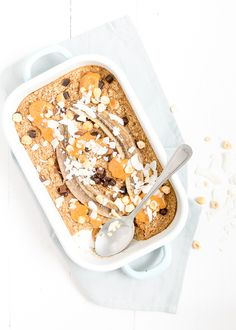 gebakken havermout #peanutbutter baked #oatmeal