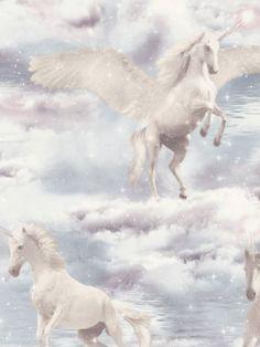 Arthouse Rainbow Unicorn White Wallpaper 696109 Kids Girls Fairytale Glitter