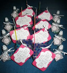 Bachlorette party packs: glow in the dark bracelet, ring pops, candy necklace, mints and chapstick