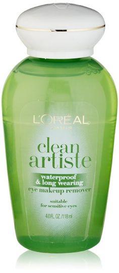 L'Oreal Paris Clean Artiste Waterproof & Long Wearing Eye Makeup Remover, 4.0 Ounces