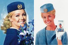 vintage stewardess hats  What I wanted to be when I grew up!  No, didn't make it...chose marriage...