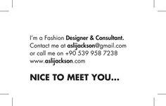 #AslıJackson #contacts #fashion #iletişim