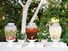 Water, Tea %26 Lemonade Drink Station    Photography: Ryan Ray Photography   Read More:…