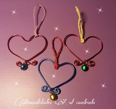 Christmas Crafts 2013: Tutorial para hacer adornos de Navidad con alambre.
